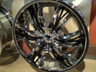 22 INCH CATIVO CHROME BLACK WHEELS RIMS 5x115 5x120 CHARGER 300C BMW 5