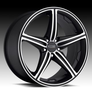18 F136 Black FOOSE Speed Camaro BMW Staggered Wheels Rims