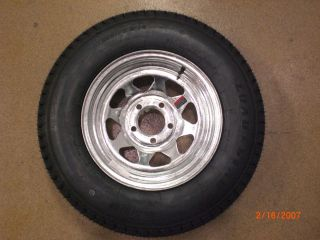 St205 75D15 C Galvanized Boat Trailer Wheel Tire 5 Lug Loadstar K550