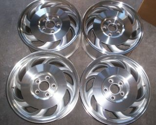 Corvette C4 1993 1996 Sawblade polished staggered racing wheels rims
