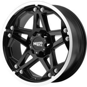 17 inch 17x8 Moto Metal 960 Black Wheels Rims 5x5 5x127