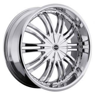 22 inch Strada Venti Chrome Wheels Rims 6x5 6x127 Trailblazer Envoy