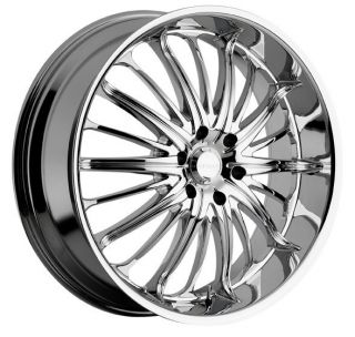 22 inch Akuza Belle Chrome Wheels Rims 5x115 15 Rwd