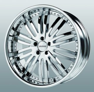 22 inch Verde Madonna Chrome Wheels Rims 5x115 300C Charger Magnum
