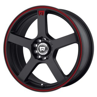 MR116 MR11656508740 15X6 5 40MM OFFSET 4X100 4 25 M BLACK RED RIM