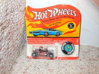 Old Hot Wheels Red Line Hot Heap Car Mint Blister Pack Mattel