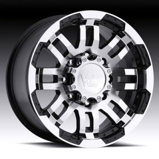 17x8 5 Vision Warrior Black Machined Wheel 5x5 5 Dodge 17