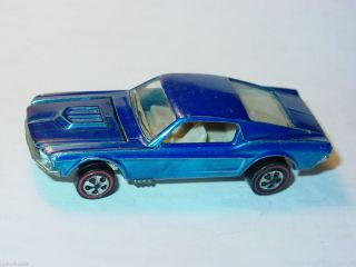 Hot Wheels Redline US Custom Mustang Dark Blue Spectraflame Nice