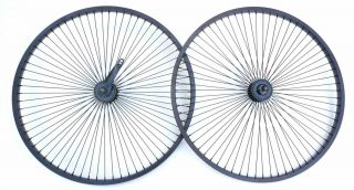 68 Spokes Beach Cruiser Bike Wheel Rim Black Front Rear Coaster