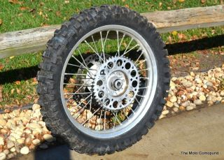 CR250 CR125 Strait Rear Back Wheel Rims Hub Axle Spaces Spokes