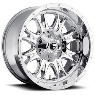 22 inch 22x9 5 Fuel Throttle Chrome Wheel Rim 8x6 5 8x165 1 Avalanche
