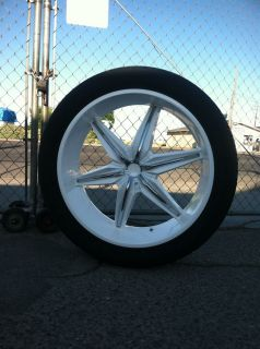 24 Gloss White Rims Tires Chrome Inserts 5x139 Dodge RAM 1500 Durango