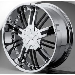 22 Hipnotic Zen Chrome Wheels Rims 300 Charger BMW 5