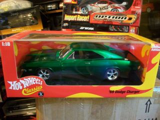 Brand New Hot Wheels Classics 1969 Dodge Charger Green Anodized Very