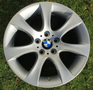 One BMW 18 Star Spoke Alloy Wheel Refurbished 5 Series E60 124 9J Rear