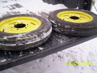 John Deere B Front Tires and Rims