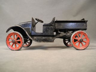 1920s Buddy L Ford Flivver Dump Truck 211 Type II Spoke Wheels Black