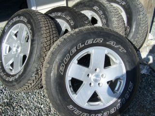 Jeep Wrangler 18 Alloy Polished Wheels and Bridgestone Tires 4