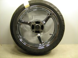 2006 CBR1000 RR CBR 1000RR Straight Rear Rim Wheel Tire Chrome
