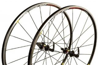 Mavic Aksium Race Wheelset Black Rims Skewers Vittoria Tires Included