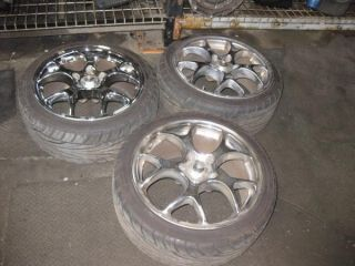 Prelude TSW 17 Wheels Rims w Tires Chrome Spyder
