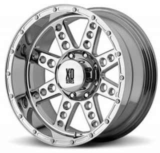 SERIES XD766 DIESEL Chrome 20X10 Offroad Truck RIMS Wheels Nitto Tires