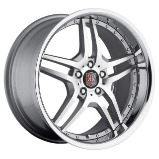 19 MRR RW2 Silver Chrome Wheels Rims Fit Mercedes E Class W210 W211