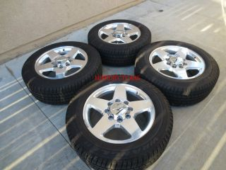 Factory Chevy GMC Sierra HD 2500 3500 20 OEM Polished Wheels Tires