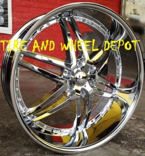24 INCH U295 RIMS AND TIRES ESCALADE SIERRA SUBURBAN YUKON TAHOE