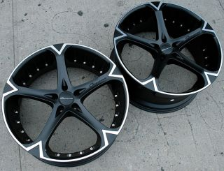 Giovanna Dalar 5V 20 Black Rims Wheels S320 Staggered
