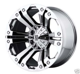 778 Monster Wheel Set Chrome 22x9 5 XD778 Monster Offroad Rims