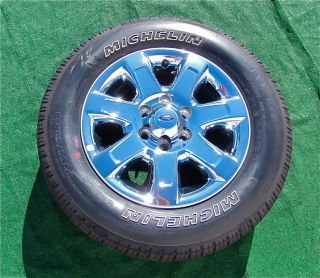 Genuine OEM Factory Ford F 150 LARIAT Chrome 18 inch WHEELS TIRES F150