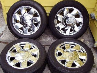 Cadillac DeVille DTS Factory Stock Chrome 17 Rims Wheels Tires