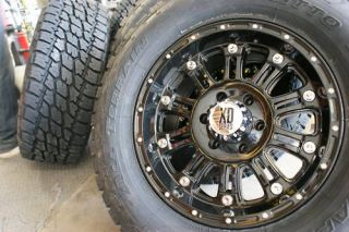 17 XD Hoss Gloss Black Wheels Rims 285 70R17 Nitto Terra Grappler at