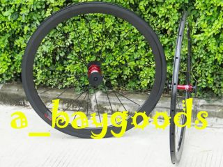 F482SB Full Carbon 700c Road Bike Clincher Wheel Set 60mm Rims