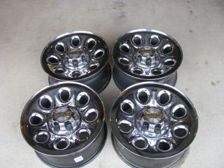 Chevy Silverado GMC Sierra 17 Steel Crome Wheels Rims