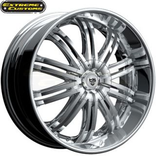 22 x9 5 Tis Luxury Wheels 532C Chrome 5 6 Lugs Rims Free Lugs