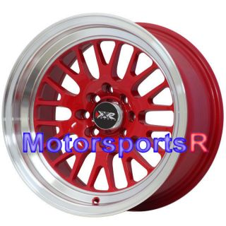 16 16x8 XXR 531 RED +20 Rims Wheels Deep Dish Lip Stance 4x100 03 06