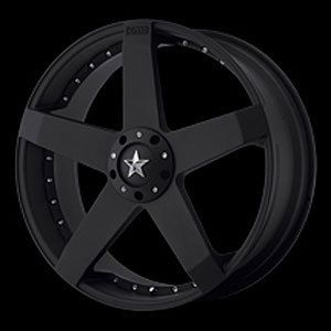 American Racing 77528004742 Rockstar Car Series 775 Black Wheel