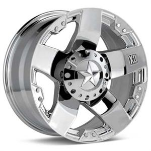 22 XD XD775 Rockstar Wheels Tires Chrome Offroad Rims
