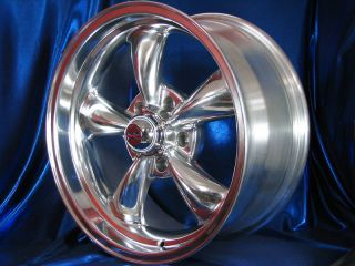 17x9 POLISHED REV CLASSIC 100 WHEELS RIMS FOR MOPAR DODGE CHARGER 1968