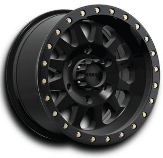 Double Standard 17x8 5 Black Wheels 5x5 Jeep JK Old GM Qty 5