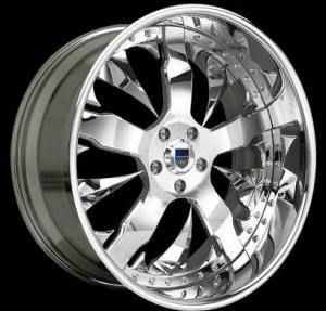 AF114 AF 114 Chrome Multi 2 Piece Rims Wheels Tires Package
