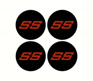 Chevy SS Rim Wheel Center Cap Overlay Decals 454 350