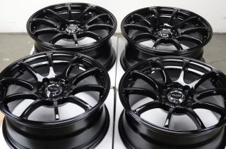4x114 3 Black Effect Wheels Civic Accord Yaris Integra Neon 4 Lug Rims