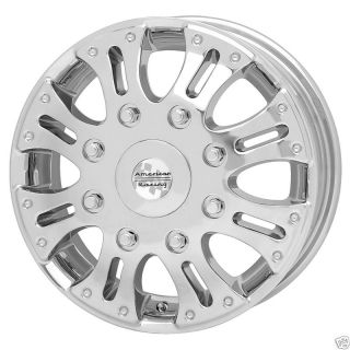 Racing Deuce Dually Chrome Ford Duallie Front Wheel Rim