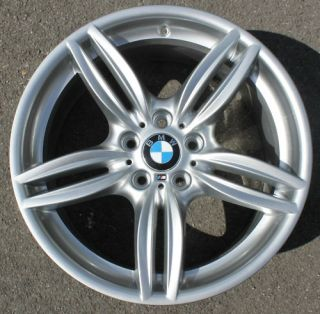 One BMW 19 M Double Spoke Alloy Wheel Refurbished 5 Series F10 351m 9J