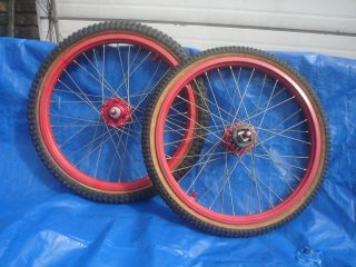 Old School BMX ACS Z Rims Mitsuboshi Silver Star Competition II Tires