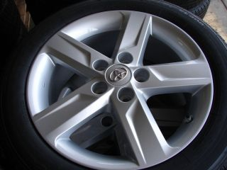 2012 TOYOTA CAMRY SE 5 SPOKE ALLOY WHEELS RIMS WITH BRIDGESTONE TIRES