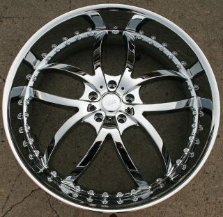 BIGG STYLE 406 24 CHROME RIMS WHEELS DODGE CHARGER V6 HEMI 24 X 9 5 5H